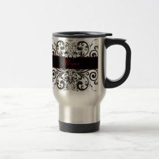 Customized Dark Elegance Stainless Steel Travel Mug