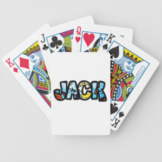 Customized deck letters Jack Bicycle Playing Cards