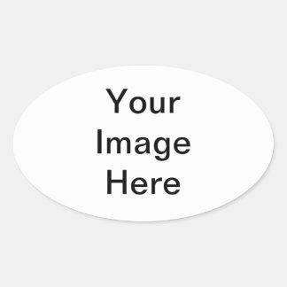Customized Design Oval Sticker