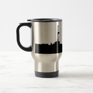 Customized Drilling Rig Silhouette Travel Mug