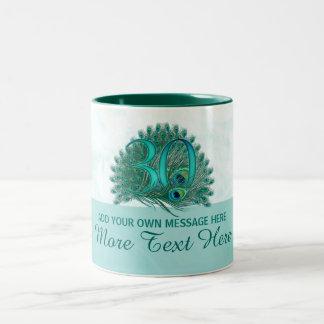 Customized elegant 30th birthday 30 text mug