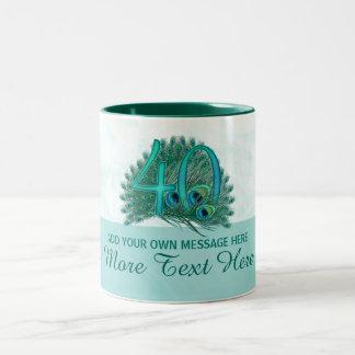 Customized elegant 40th birthday 40 text mug