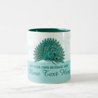 Customized elegant 70th birthday 70 text mug