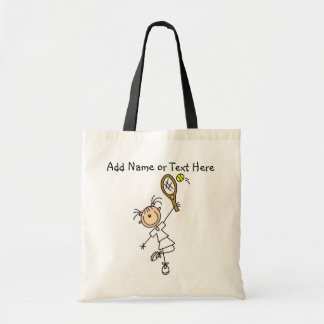 Customized Female Tennis  Player Tote  Bag