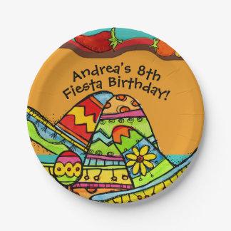 Customized Fiesta Birthday Paper Plate