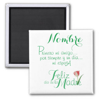 Customized - Forever & a day my wife Espanol Magnet