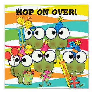 Customized Frog Hop Birthday Invitation