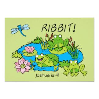 Customized Frog Pond Birthday Invitation