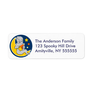 Customized Ghost Candy Corn Return Address Labels