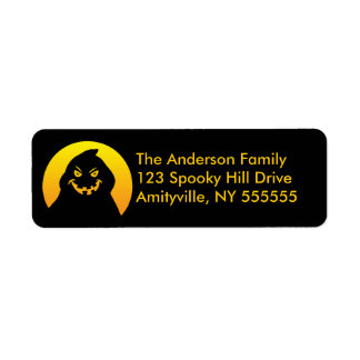 Customized Ghost Silhouette Return Address Labels