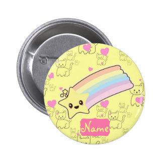 Customized Girl Accessories Kawaii Weather Yellow 6 Cm Round Badge
