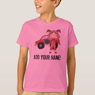 Customized Girl Race Car Driver T-shirt