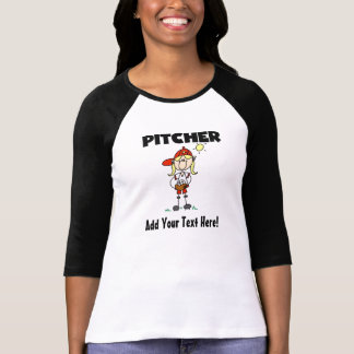 Customized Girls Baseball Pitcher T-shirts