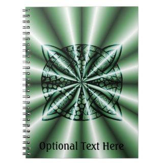 Customized Green Metallic Celtic Knot Notebooks