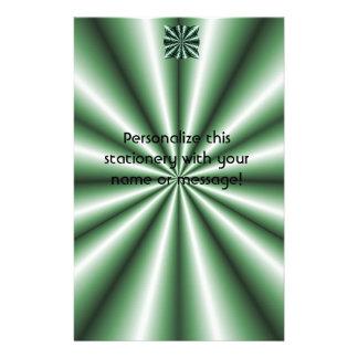 Customized Green Metallic Celtic Knot Custom Stationery