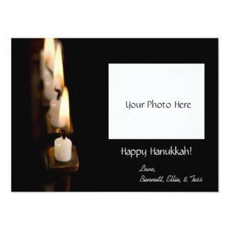 Customized Hanukkah Menorah w/ Photo 17 Cm X 22 Cm Invitation Card