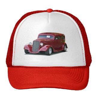 Customized Hot Rod Car Trucker Hat