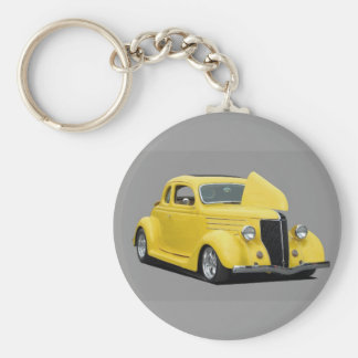 customized hot rod car key ring
