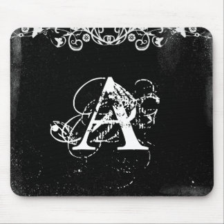 Customized Initial Monogram Mouse Pad