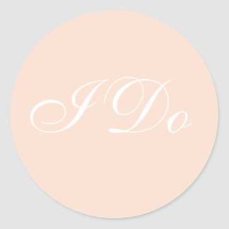 Customized Invite Linen Classic Round Sticker