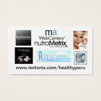 Customized Isotonix business card