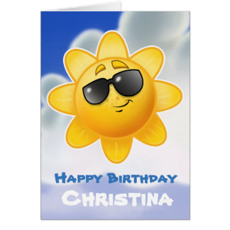 customized Kids birthday cartoon card