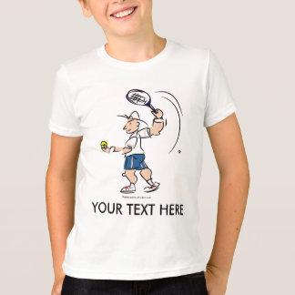 Customized kids tennis t shirt with cartoon