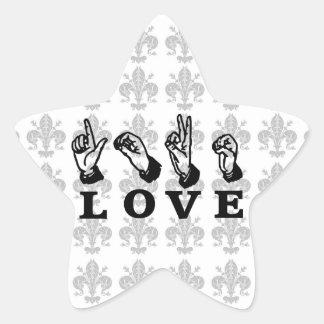 Customized Love Hand Sign Custom Star Sticker