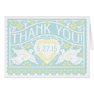 Customized Lovebirds blank Thank You Card