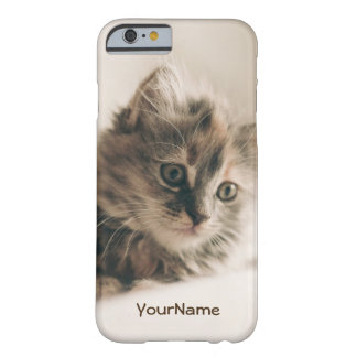 Customized Lovely Sweet Cat Kitten Kitty Barely There iPhone 6 Case