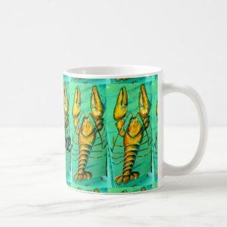 customized maine lobsters green coffee mug