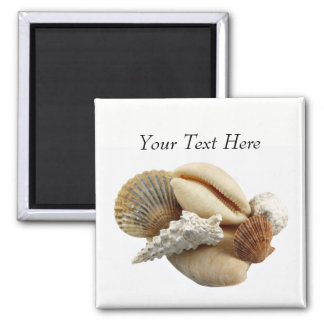 Customized Mixed Seashell Photo Magnet