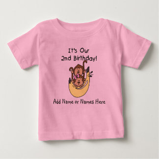 Customized Monkey Twin Boy and Girl Tshirt