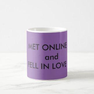 CUSTOMIZED MUG- MET ONLINE AND FELL IN LOVE COFFEE MUG