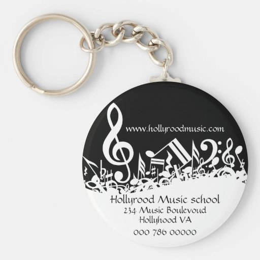 Customized Musical Notes Business advert  Keychain