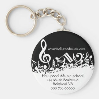 Customized Musical Notes Business Advertising Key Ring