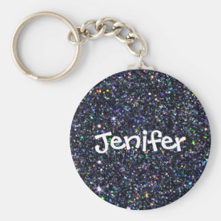 Customized name sparkle and glitter Keychain