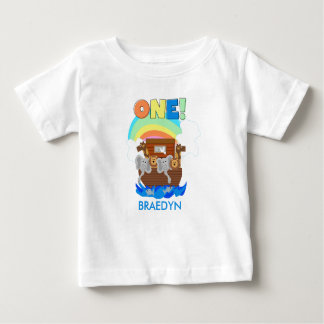 Customized Noah's Ark Baby 1st Birthday T-shirt
