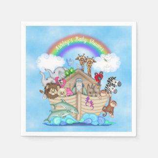 Customized Noah's Ark Baby Shower Paper Napkins Disposable Serviette