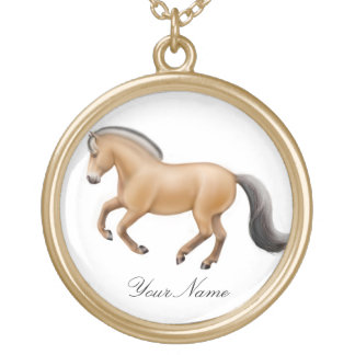 Customized Norwegian Fjord Horse Necklace