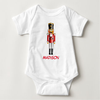 Customized Nutcracker Toy Soldier Cartoon Baby Bodysuit