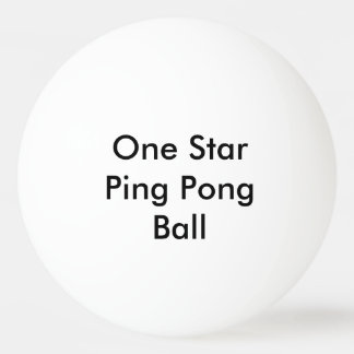 Customized One Star Ping Pong Ball