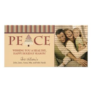 Customized Peace Happy Holidays Design :: 03 Customised Photo Card