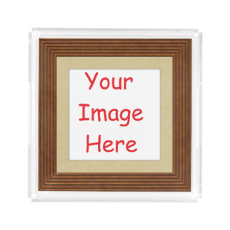 Customized personalized framed add your picture to acrylic tray