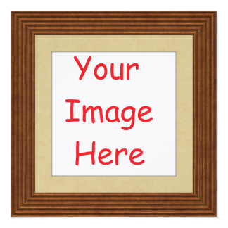 Customized personalized framed add your picture to card
