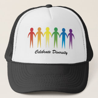 Customized, Personalized Rainbow Diversity Hats