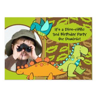 Customized Photo Dino Dinosaur Birthday Invitation