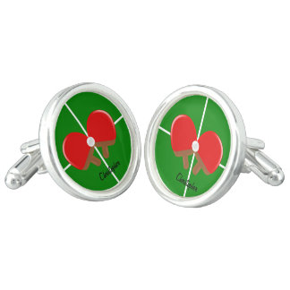 Customized Ping Pong Cufflinks