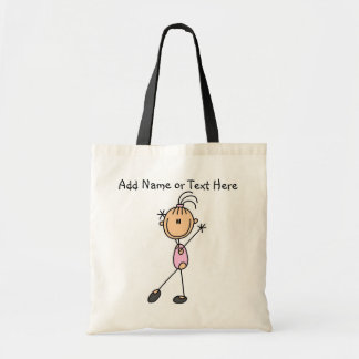 Customized Pink Girls Gymnast  Tote  Bag