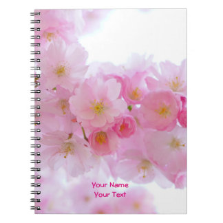 Customized Pink Japanese Cherry Blossom Bloom Notebook